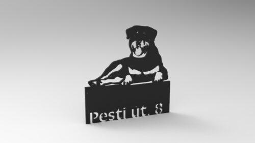 Rottweiler házszámtábla