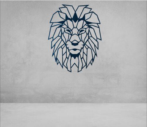 oroszlán poligon faldísz