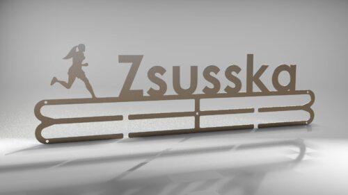 Éremtartó futáshoz - Egyedi-női saválló szálcsiszolt